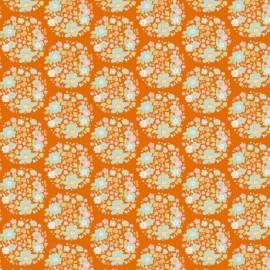 Tissu coton Tilda Flower nest - ginger x 10cm