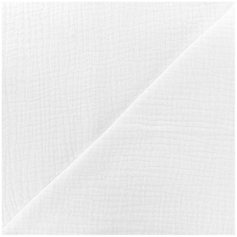tissu double gaze de coton mpm blanc x 10cm ma petite mercerie. Black Bedroom Furniture Sets. Home Design Ideas
