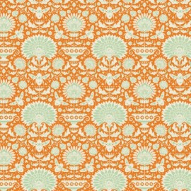 Tilda cotton fabric Garden bees - ginger x 10cm