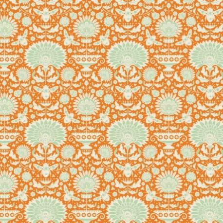 Tilda cotton fabric Garden bees - ginger x 10cm