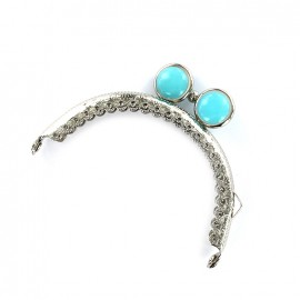 Color metallic clasp for purse - turquoise
