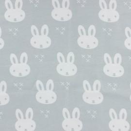 Tissu Jersey Petit lapin - gris x 10 cm