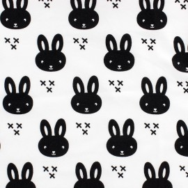 Jersey fabric Petit lapin - white x 10 cm