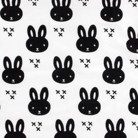 Tissu Jersey Petit lapin - blanc x 10 cm
