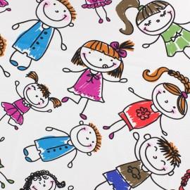 Jersey fabric Bambins - white x 10 cm