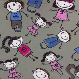 Jersey fabric Bambins - grey x 10 cm