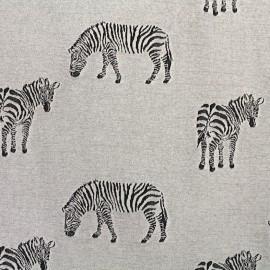 Tissu Jersey jacquard Zebra - gris x 23cm