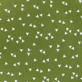 Tissu coton Poppy Triangle - blanc/mousse x 10cm