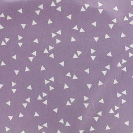 Tissu coton Poppy Triangle - blanc/parme x 10cm