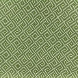 Tissu coton Poppy Square - blanc/mousse x 10cm