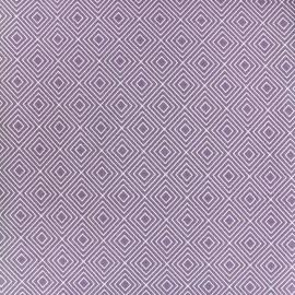 Tissu coton Poppy Square - blanc/parme x 10cm
