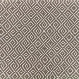 Tissu coton Poppy Square - blanc/brun x 10cm