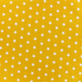 Poppy cotton Fabric - yellow white star x 10cm