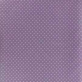Tissu coton mini pois - blanc/rouge x 10cm