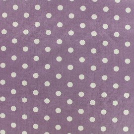 Cotton Fabric pois 7 mm - white/parma x 10cm