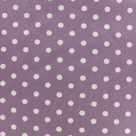 Cotton Fabric pois 7 mm - white/parma x 10cm