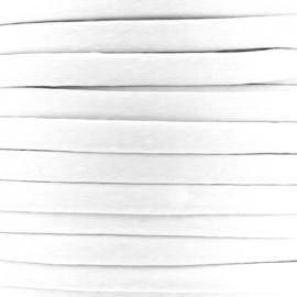 Cotton Spaghetti Cord 5 mm - white