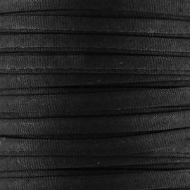 Cotton Spaghetti Cord 5 mm - black