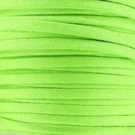 Cotton Spaghetti Cord 5 mm - light green