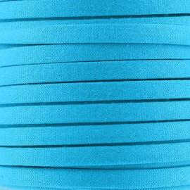 Cordon Spaghetti coton 5 mm - turquoise