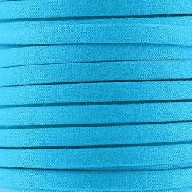 Cotton Spaghetti Cord 5 mm - turquoise
