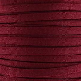 Cotton Spaghetti Cord 5 mm - carmine red