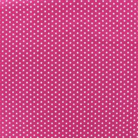 Tissu Poppy Graphics Stars - blanc/fuchsia foncé x 10cm