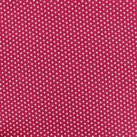 Tissu Poppy Graphics Stars - blanc/framboise x 10cm