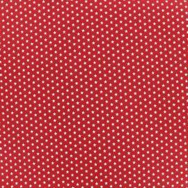 Tissu Poppy Graphics Stars - blanc/rouge x 10cm