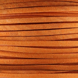 3 mm leather strip - mandarin