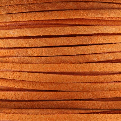 3 mm leather strip - mandarin