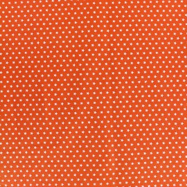 Tissu Poppy Graphics Stars - blanc/orange x 10cm