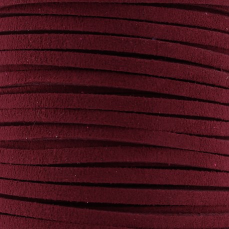 3 mm leather strip - burgundy