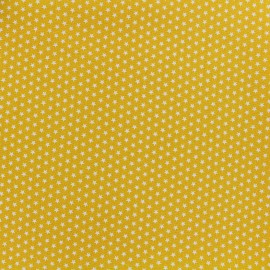 Poppy cotton fabric Graphics Stars - white/yellow x 10cm