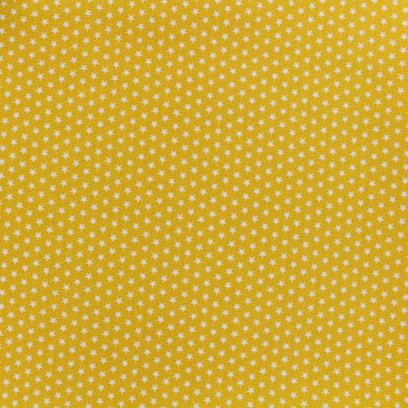 Tissu Poppy Graphics Stars - blanc/jaune x 10cm