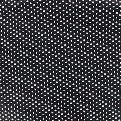 Poppy cotton fabric Graphics Stars - white/black x 10cm