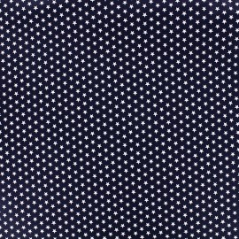 Tissu Poppy Graphics Stars - blanc/marine x 10cm