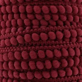 Galon little pompon Color - bordeaux x 1m