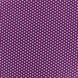 Tissu Poppy Graphics Stars - blanc/violet x 10cm