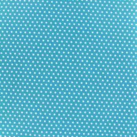 Tissu Poppy Graphics Stars - blanc/turquoise x 10cm