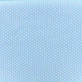 Poppy cotton fabric Graphics Stars - white/sky x 10cm