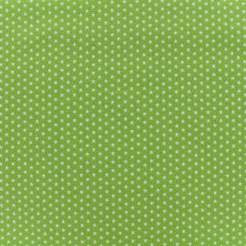 Poppy cotton fabric Graphics Stars - white/light green x 10cm