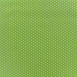 Tissu Poppy Graphics Stars - blanc/vert clair x 10cm