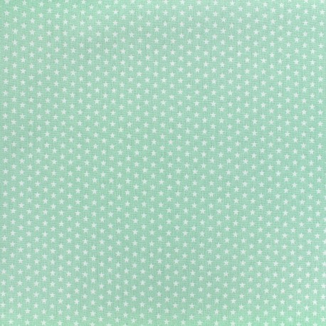 Poppy cotton fabric Graphics Stars - white/seagreen x 10cm