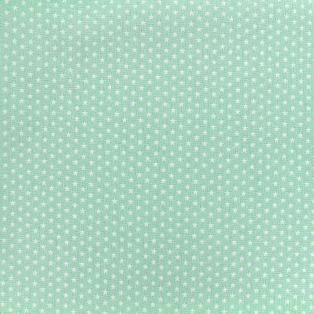 Tissu Poppy Graphics Stars - blanc/vert d'eau x 10cm