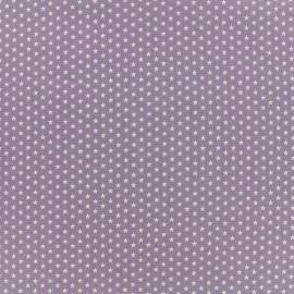 Poppy cotton fabric Graphics Stars - white/parma x 10cm