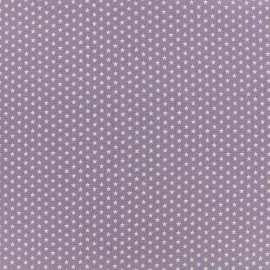 Tissu Poppy Graphics Stars - blanc/parme x 10cm