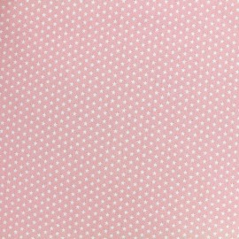Poppy cotton fabric Graphics Stars - white/light pink x 10cm