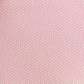 Tissu Poppy Graphics Stars - blanc/rose clair x 10cm