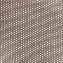 Poppy cotton fabric Graphics Stars - white/light brown x 10cm